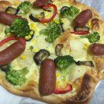 木古内駅近くの野菜直売所「きこりろ」で買った食材でピザ作りに挑戦しました